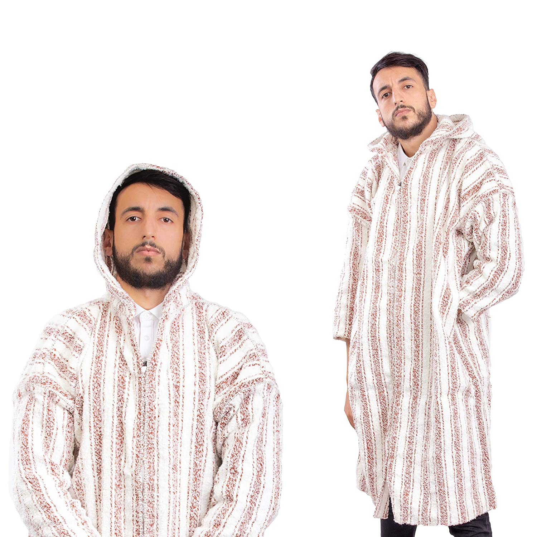 Wool dress women Handmade boho Clothing SET OF 2 Striped Djellaba Cardigan Sweater Coat Hoodie Caftan from wool Long Winter Dress