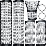 Frienda 7 Piece Car Accessories Bling Seat Belt Covers Rhinestone Door Handle Cover Crystal Auto Shift Gear Cover Handbrake C