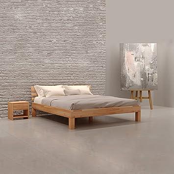 Krokwood Julia Massivholzbett in Buche 160 x 200 cm FSC 100% Massiv  Doppelbett, Natur geölt Buchebett, Billig Holzbett mit Kopfteil, massivholz  Bett ...