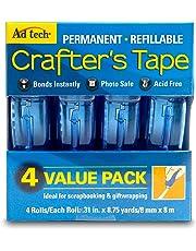 "Ad-Tech Glue Runner Rollo Adhesivo Permanente, 0.31"" x 8.75 Yardas (8 mm x 8 m), 4 por Paquete"