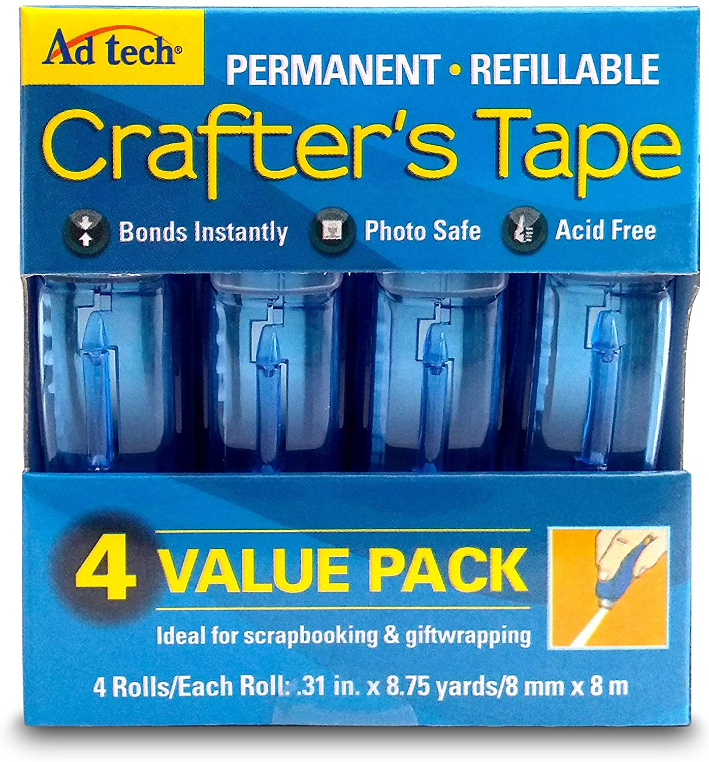 Adtech Glue Runner Permanent 35Yds Total (4 Pack Each), Single Pack: Arts, Crafts & Sewing