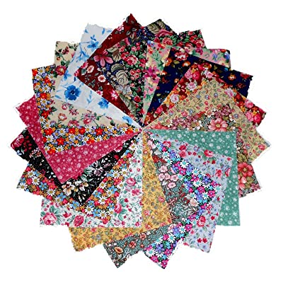 80 5'' Among the Flowers Quilting Fabric Charm Pack