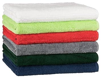 floringo Toalla Serie Promo de Star 450 g/m², 100% algodón, marine, Saunatuch 100x180: Amazon.es: Hogar