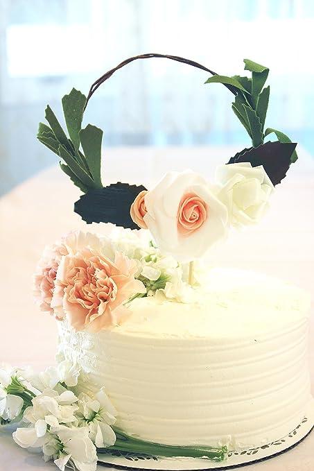 Amazon Flower Wreath Happy Birthday Cake Bunting Topper Cake