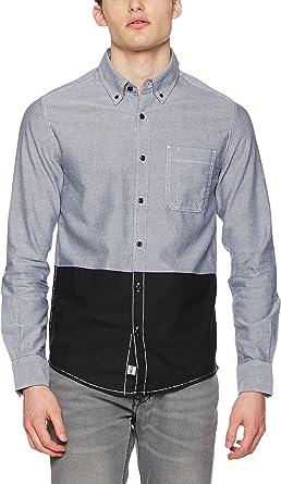 adidas Camisa Hombre Chemise Azul/Gris/Negro XS: Amazon.es ...