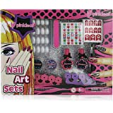 Pinkleaf 3D Nail Art Kit for Kids with Glitter, Gems & Stickers, Manicure & Pedicure Gift Set for Girls & Teens