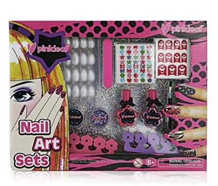 Amazon Pinkleaf 3d Nail Art Kit For Kids With Glitter Gems