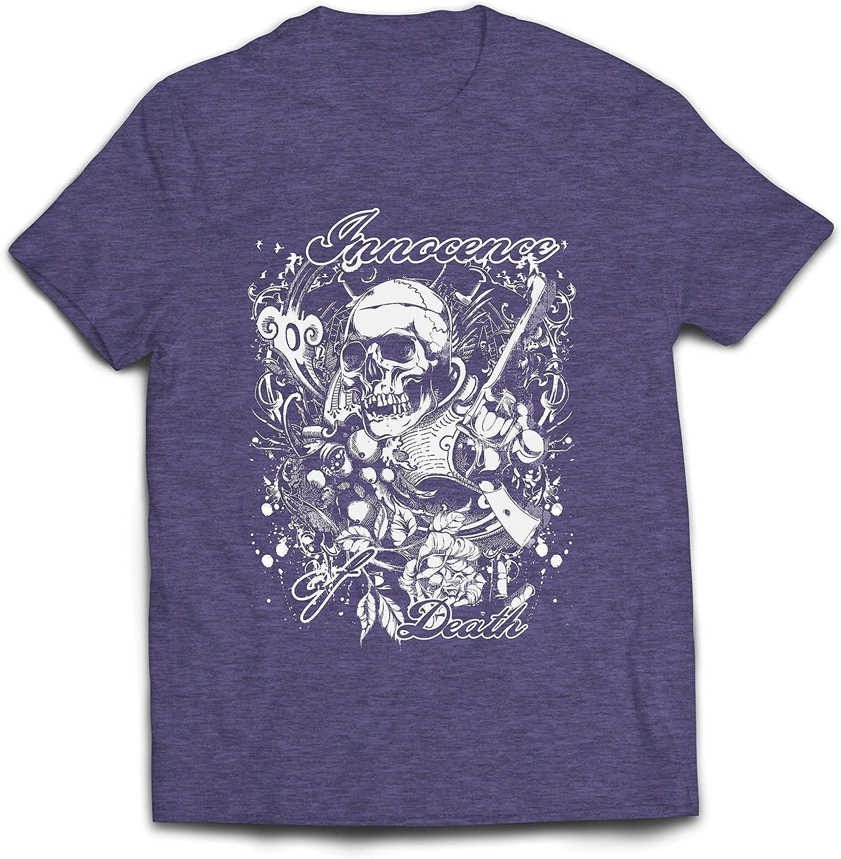 lepni.me Camisetas Hombre Inocencia de la Muerte - Calavera Arte, gráfico de