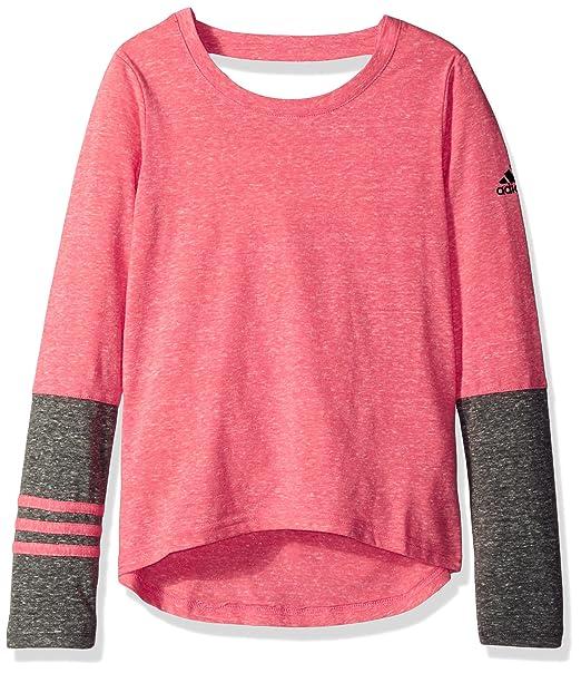02b09022074b Adidas Girls  Big Girls  3s Stylz Triblend Long Sleeve Top