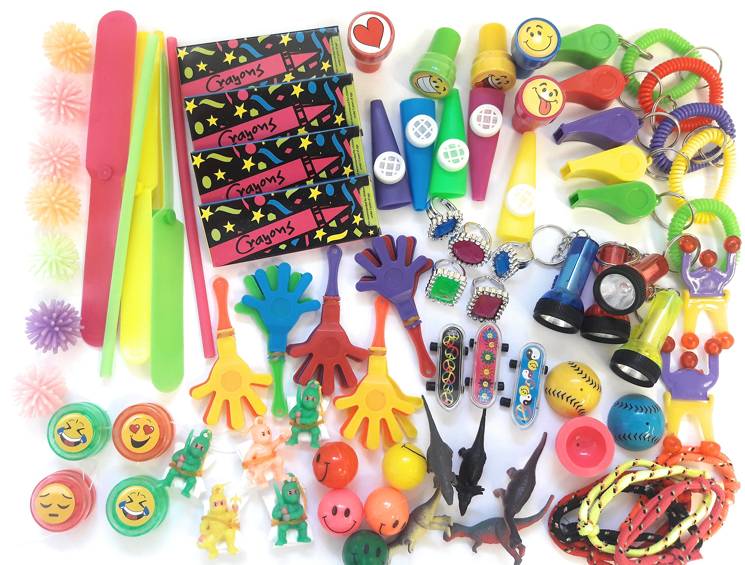 Bulk Toys Party Favors Toy Assortment Kids Jumbo 120 Piece Favor Small Toy Assortments Birthday Party Bags Fillers Pinata Prize Carnival Claw Game School Dentist Doctor Rewards Stocking Stuffer by TSF TOYS (Image #3)