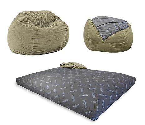Phenomenal Cordaroys Kc Ch Mo Chenille Convertible Chair Folds Bed As Seen On Shark Tank Moss King Size Bean Bag Beatyapartments Chair Design Images Beatyapartmentscom