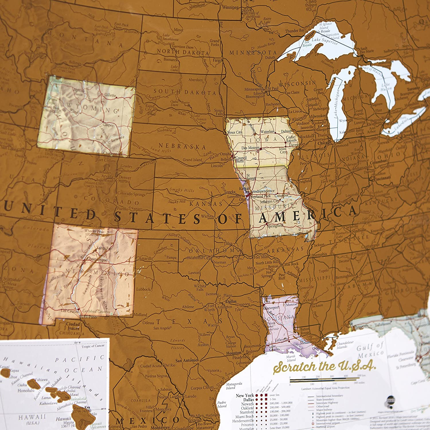 Maps International Scratch Off Map Of The US