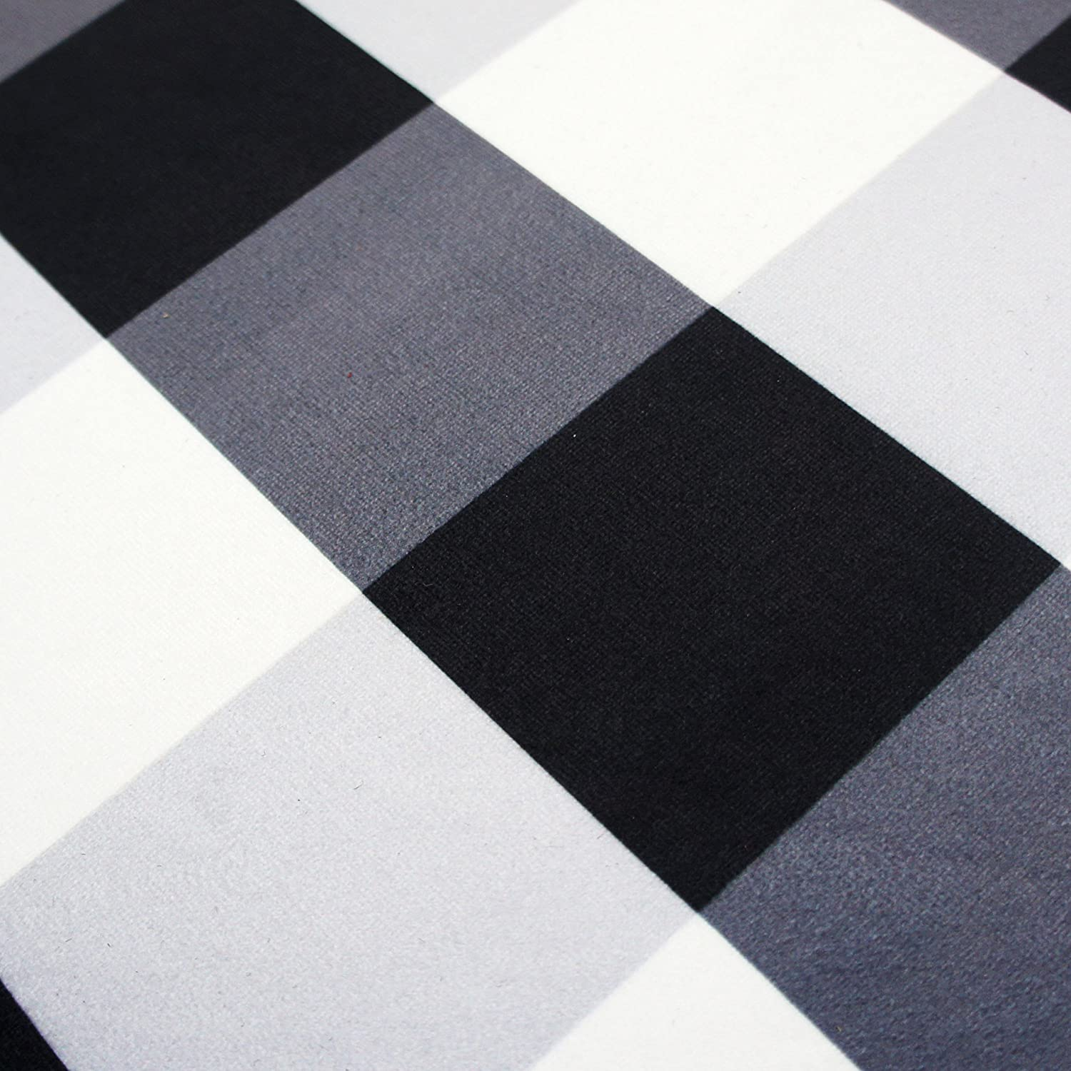 Plaid Rug: USTIDE 100% Cotton Rugs Buffalo Plaid Rug Black/White