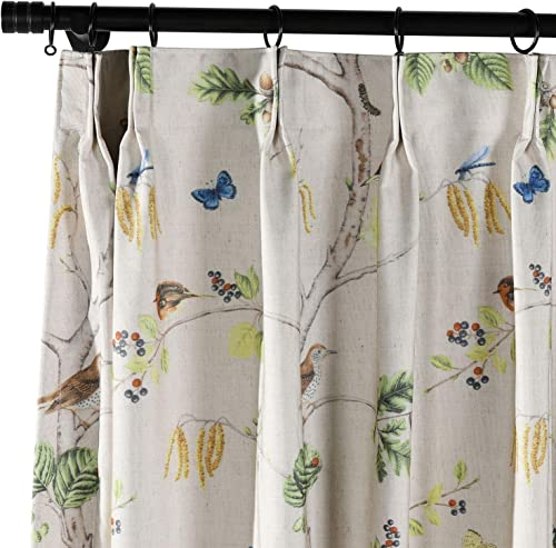 ChadMade Rural Pastoral Print Extra Wide Window Curtain 120″ W x 102″ L