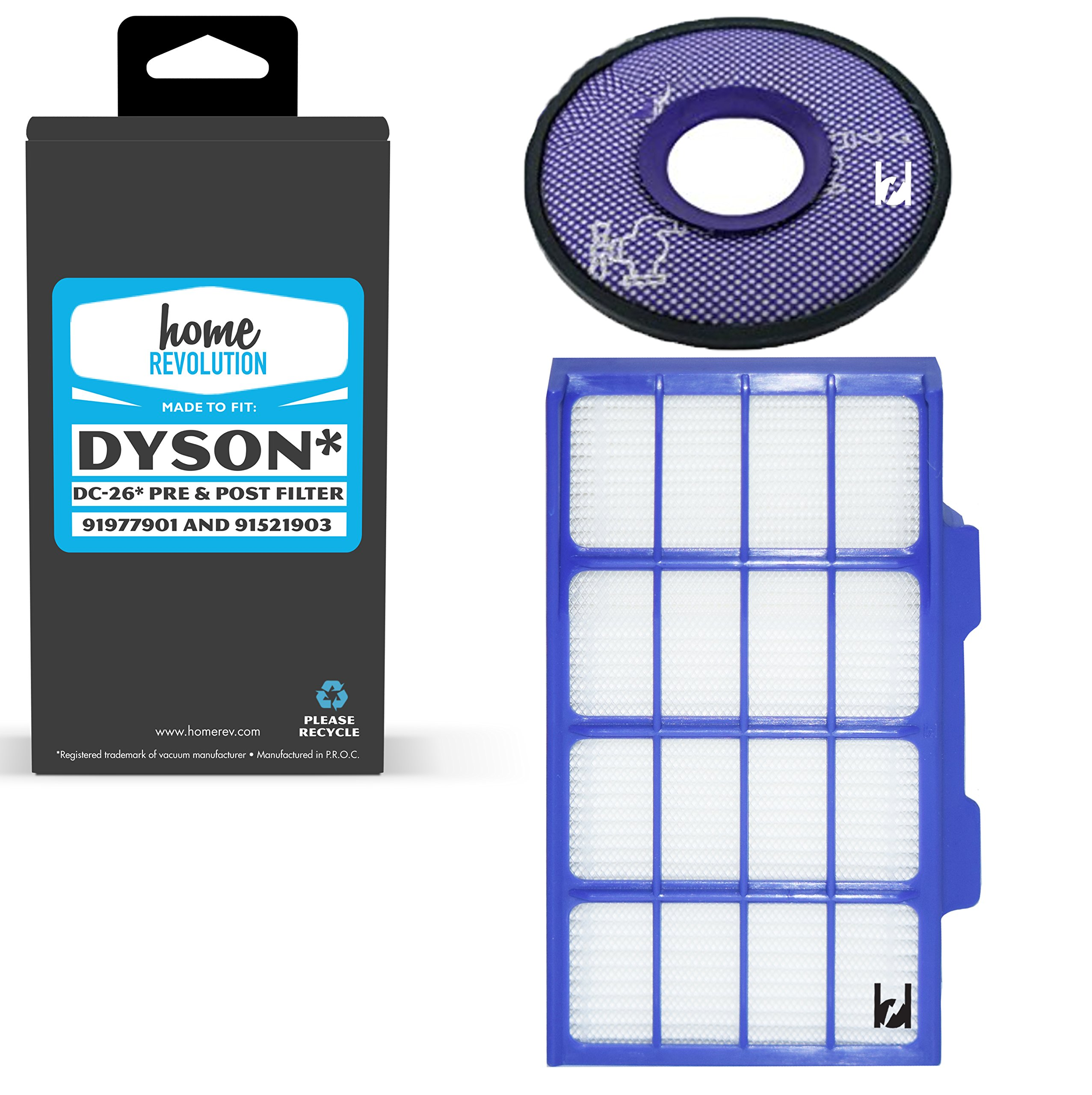 Home Revolution Replacement HEPA Filter, Fits Dyson DC26 Vacuum Models and Part 919779-01 & 915219-03