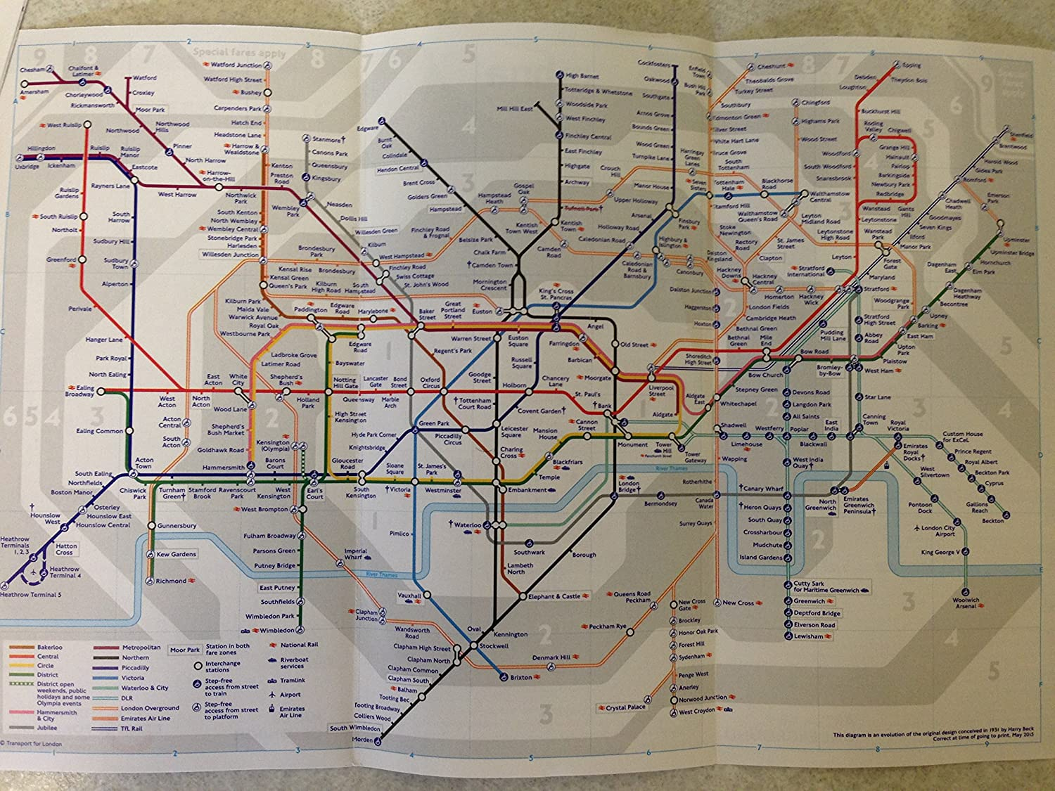 Train Map London Underground.2 X Official London Underground Tube Train Map By Tfl London Subway