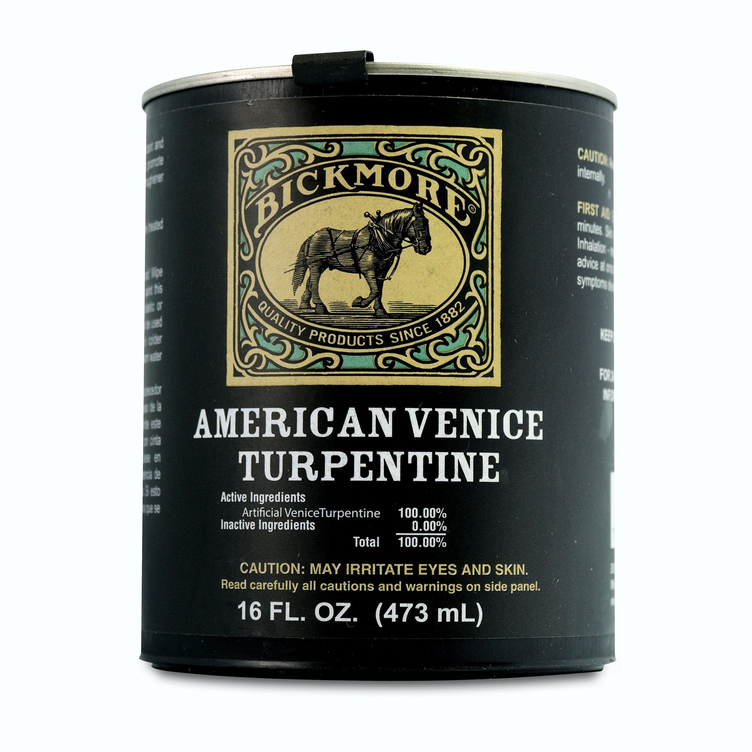 Bickmore American Venice Turpentine Pint for Horses - Promores New Hoof Growth and Prevents Quarter Cracks and Split Hooves by Bickmore