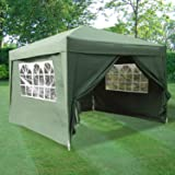 ESC Ltd 3x3mtr Pop Up Waterproof Gazebo Green with 2 WindBars and 4 Leg Weight Bags