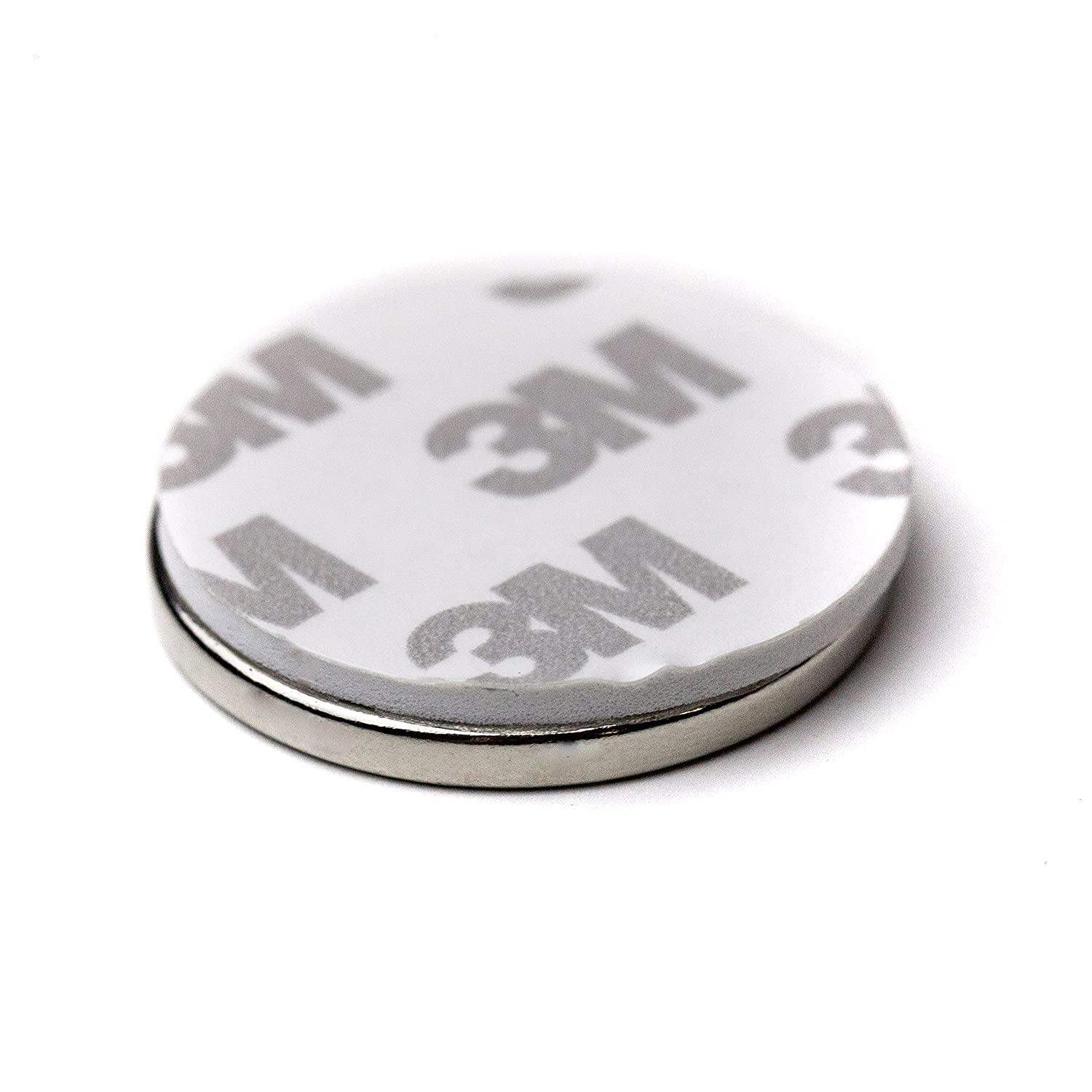 """6Pc Super Strong N42 Neodymium Magnet 1.26"""" x 1/8"""" NdFeB Discs, The World's Strongest & Most Powerful Rare Earth Magnets by Applied Magnets W/ 3M Adhesive"""