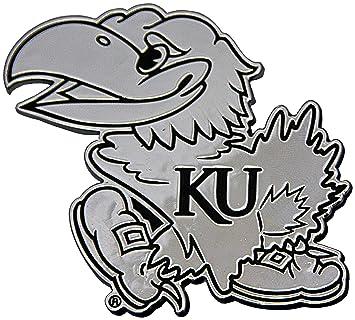 Amazon.com : NCAA Kansas Jayhawks Chrome Auto Emblem : Automotive ...