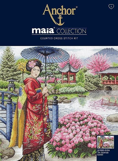 Anchor Maia - Kit de Punto de Cruz, diseño de jardín japonés: Amazon.es: Hogar