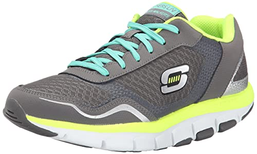 Skechers - Zapatillas para Mujer Charcoal/Yellow: Amazon.es: Zapatos y complementos
