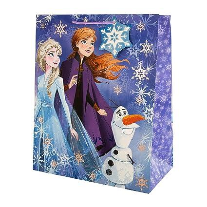 Hallmark Frozen II - Bolsa de regalo (tamaño grande), diseño ...
