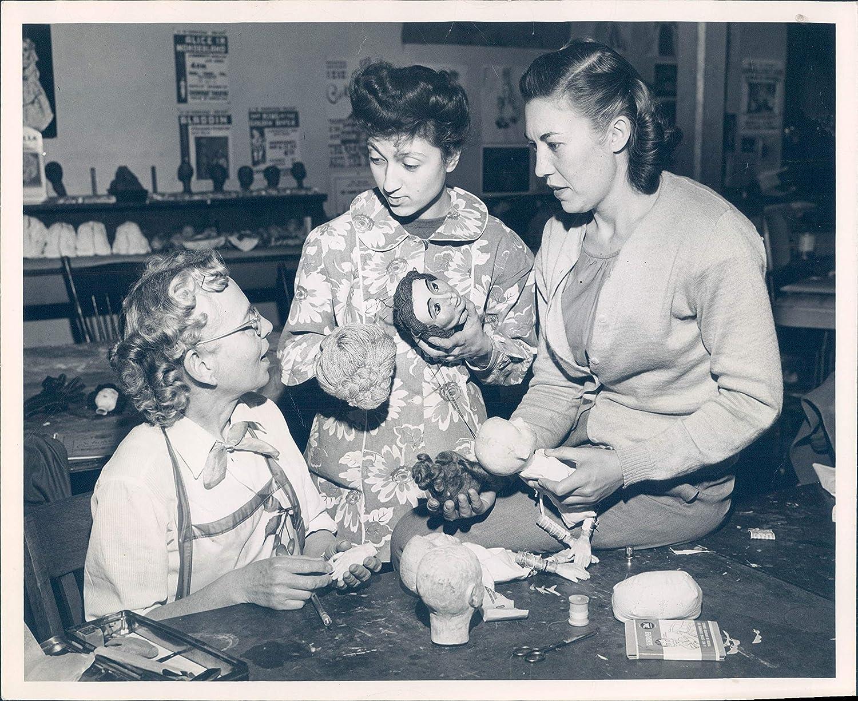 Vintage Photos 1950 Photo Miss Aurora Valentinetti Vivien Franklin Jayne Lawler Puppetry 8x10