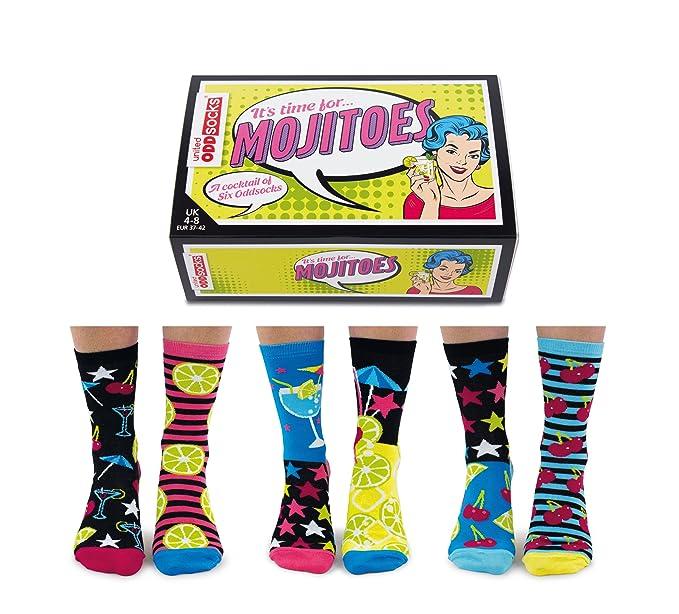 Mojitoes United Odddsocks - Caja de 6 calcetines para mujer: Amazon.es: Ropa y accesorios