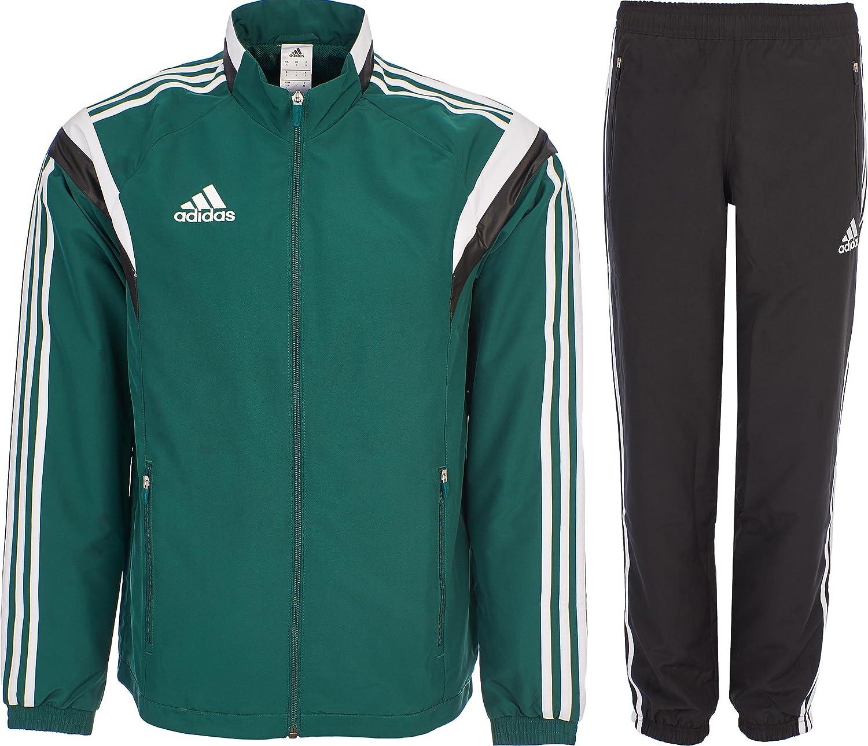 Details zu Adidas Climalite Woven Classic Men's Full Zip Tracksuit Jacket & Pants Black