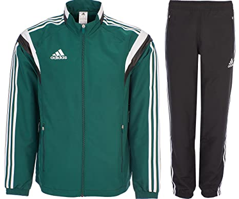 adidas Homme Survêtements Tracksuit Woven Soccer RefSuit Track Top Pants  Training Black Green G90430 ( 7be9847be3c