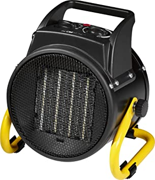 Opinión sobre Clatronic HL 3651 Latronic Calefactor de Aire Caliente Cerámico, 2 Niveles de Temperatura, 1000/2000 W, Función Ventilador, 4 Velocidades, 2000 W, Negro