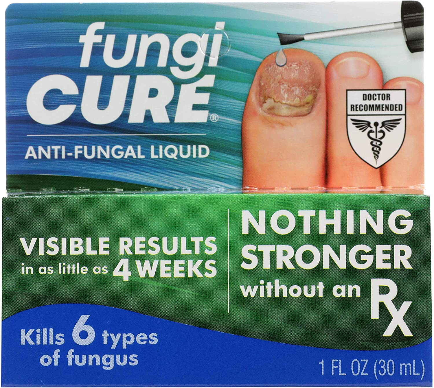 FUNGICURE Anti-Fungal Liquid - Maximum Strength - Kills Exposed Nail-Bed Fungus - Visible Results in as Little as 4 Weeks - 1 fl oz: Health & Personal Care