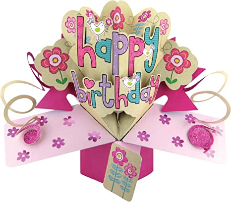 Second Nature Carte D Anniversaire Pop Up Pour Fille Motif Happy