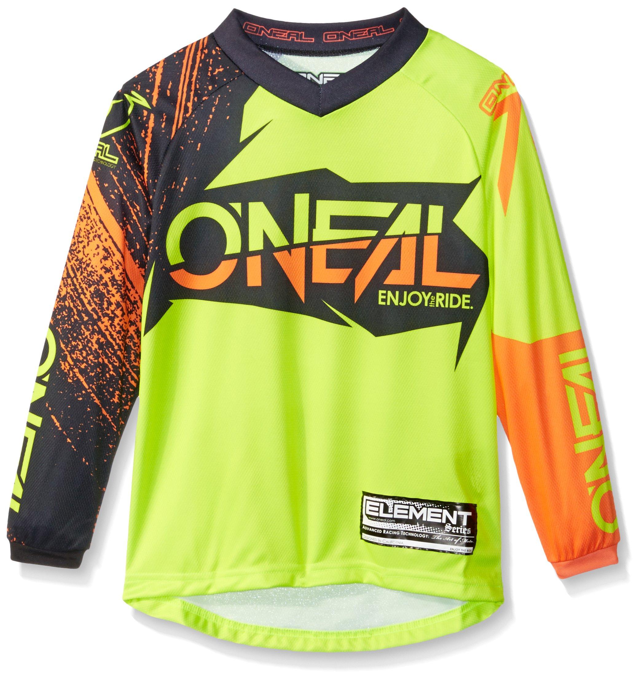 O'Neal Youth Element Burnout Jersey (Black/Hi-Viz/Orange, Small)