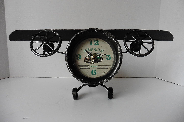 Vintage Retro Style Lenght 48cm Aeroplane Shape Desk Clock
