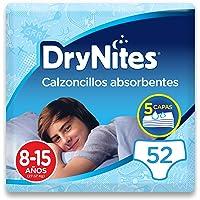 DryNites - Calzoncillos absorbentes para niño - 8-15 años (16-23 kg), 4 paquetes x 13 uds (52 unidades)