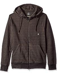 16f985312398 Volcom Mens VSM Empire Zip Up Hooded Fleece Hooded Sweatshirt