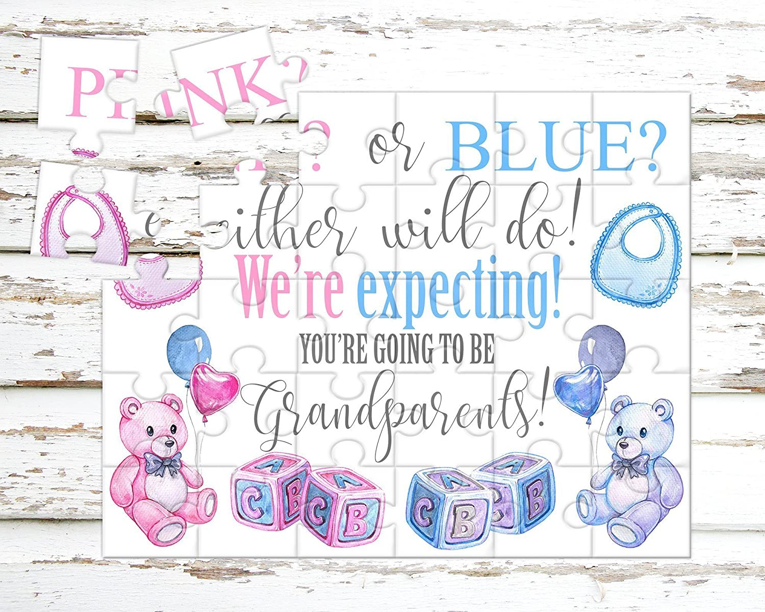 Pregnancy Announcement Puzzle for Grandparents - Pregnancy Reveal - Baby Announcement - Having a baby Announcement - P0024