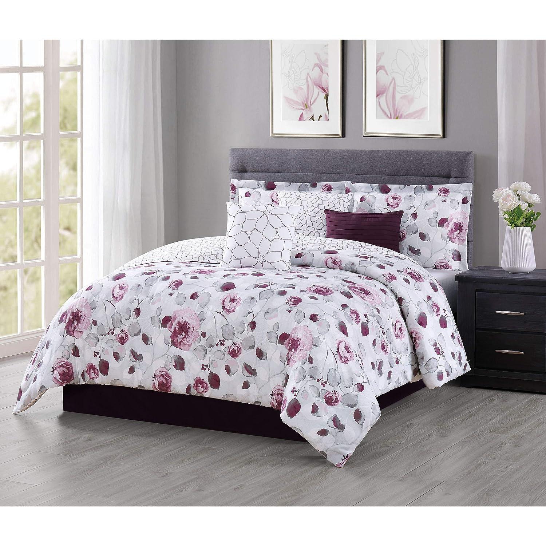 Carmela Home Graceview Comforter Set King Burgundy