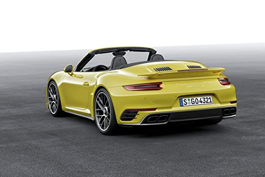 Amazon.com: Porsche 911 Turbo S Cabriolet (991) (2016) Car Print on 10 Mil Archival Satin Paper Yellow Front Side Static View 11