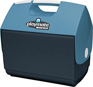 product image for Igloo Playmate Elite MaxCold Personal Cooler, Jet Carbon/Ice Blue/White, 16 Quart
