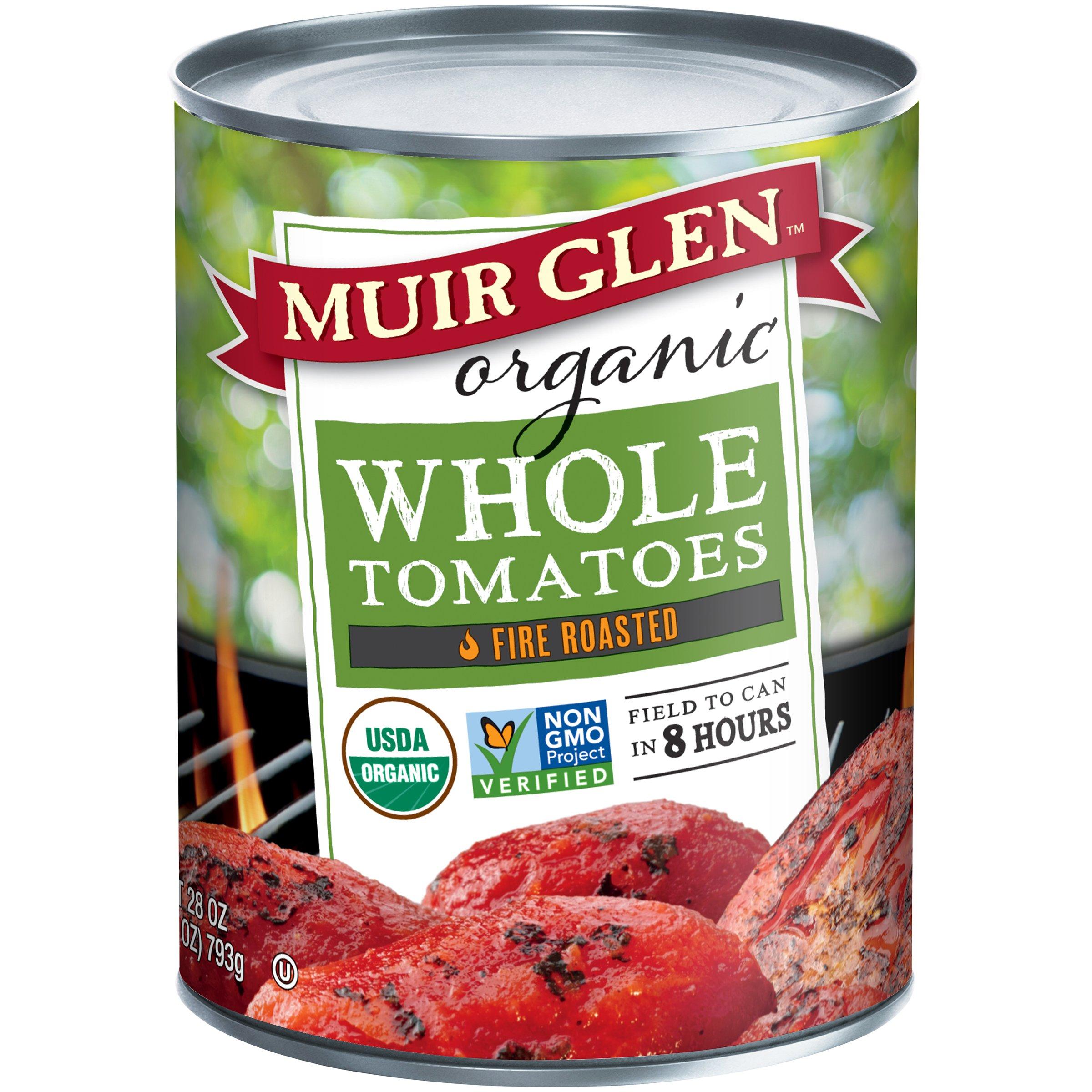 Muir Glen Organic Fire Roasted Whole Tomatoes, 28 oz
