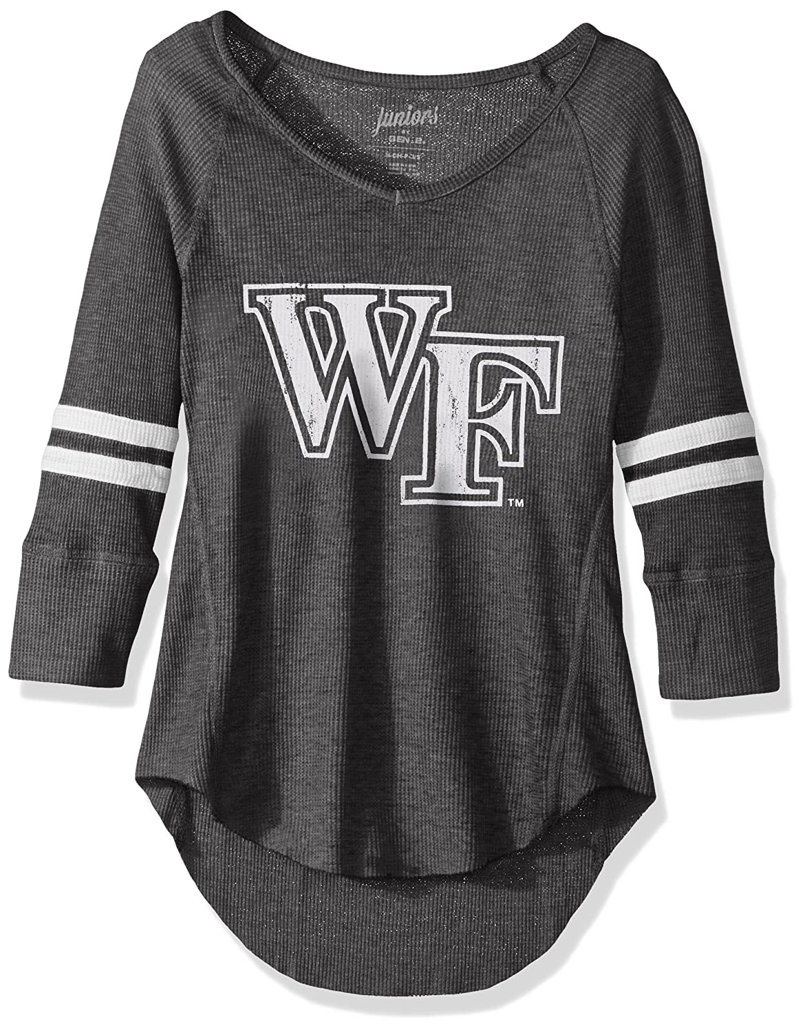 3-5 Small Team Color NCAA Wake Forest Demon Deacons Juniors Outerstuff Relaxed 3//4 Raglan Thermal Top