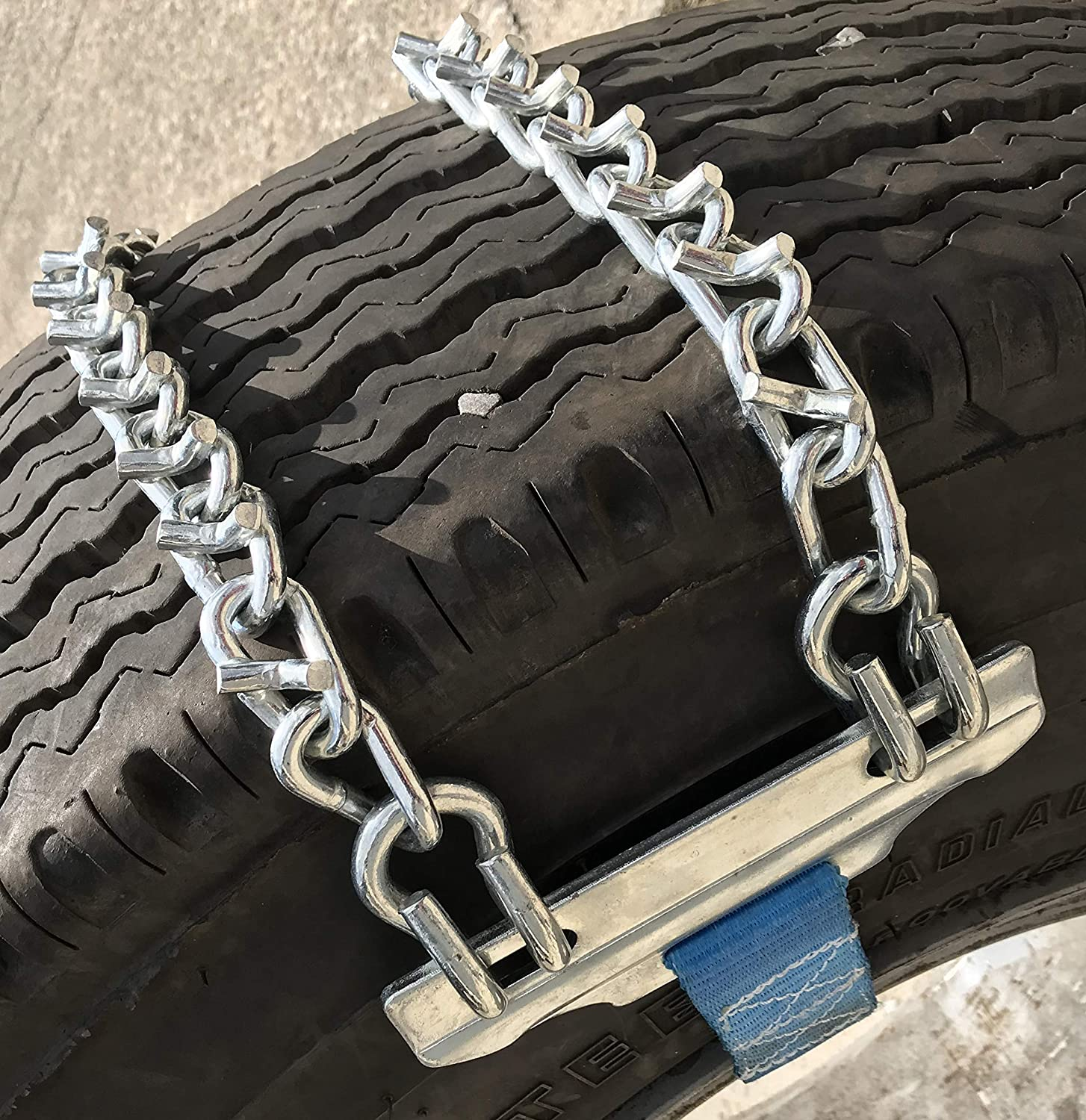 TireChain.com 11-22.5 11 22.5 V-Bar Strap On Emergency Tire Chains