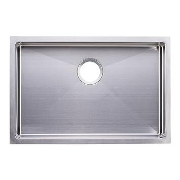 Bai 1247 27 shallow handmade stainless steel kitchen sink single bai 1247 27 shallow handmade stainless steel kitchen sink single bowl under mount 16 gauge amazon workwithnaturefo
