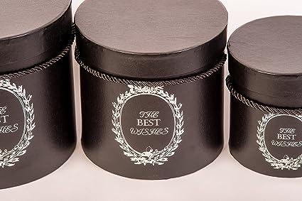 """Juego de cajas sombreras decorativas, diseño con el texto """"The Best"""