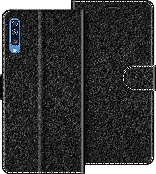 COODIO Funda Samsung Galaxy A70 con Tapa, Funda Movil Samsung A70, Funda Libro Galaxy A70 Carcasa Magnético Funda para Samsung Galaxy A70, Negro: Amazon.es: Electrónica