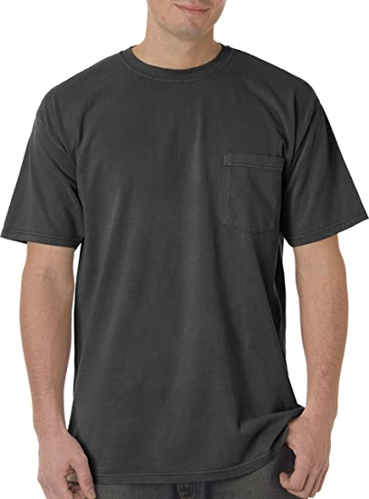 ad7644a05 Image Unavailable. Image not available for. Color: Comfort Colors Men's 6.1  oz. Garment-Dyed Pocket T-Shirt ...