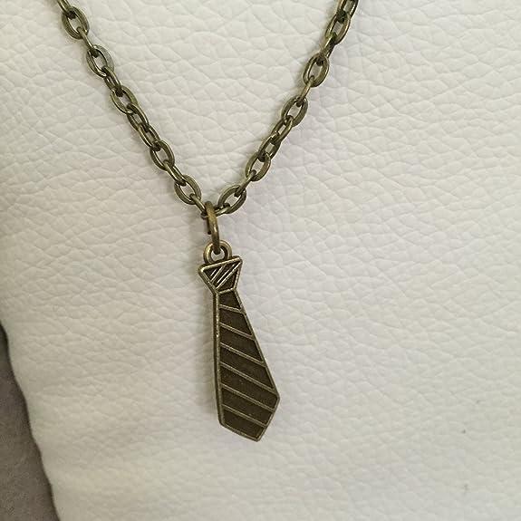 Collar corbata color bronce inspirado en 50 tono gris: Amazon.es ...